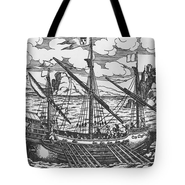 French Galley Operating In The Ports Of The Levant Since Louis Xi  Tote Bag by French School