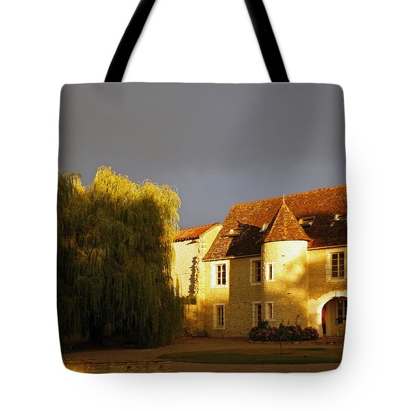 French House At Sunset Tote Bag