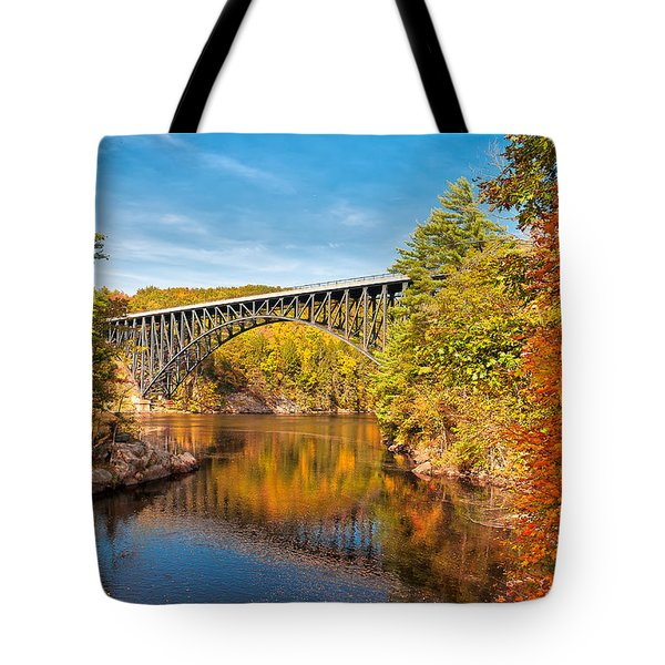 French King Bridge In Autumn Tote Bag