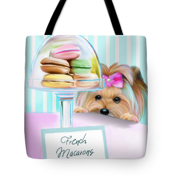 French Macarons Tote Bag by Catia Cho
