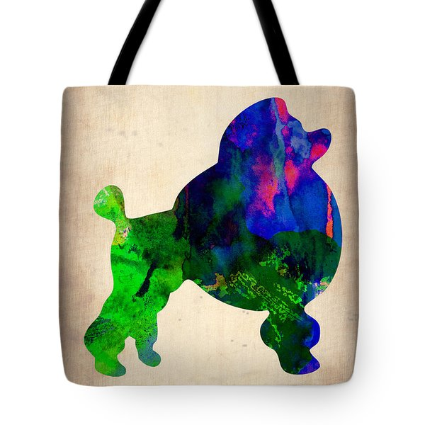 French Poodle Watercolor Tote Bag