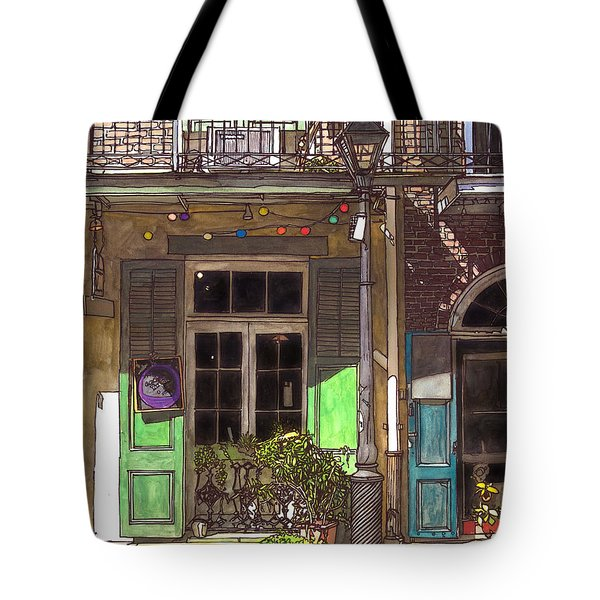 French Quarter Shop 369 Tote Bag by John Boles
