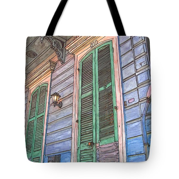 French Quarter Shutters 368 Tote Bag by John Boles