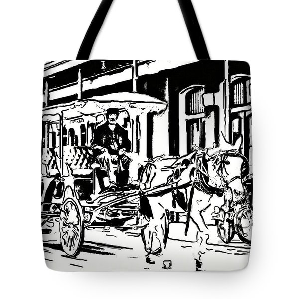 French Quarter Wheels 2 Tote Bag by Steve Harrington
