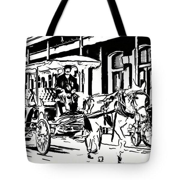 French Quarter Wheels 2 Tote Bag by Steve Harrington