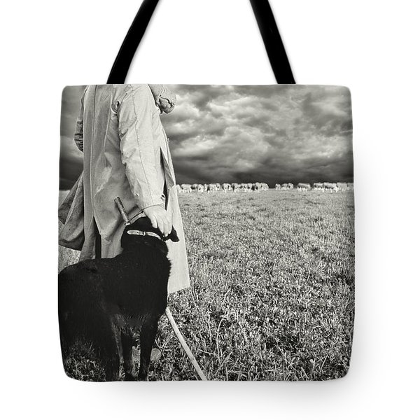 French Shepherd - B W Tote Bag