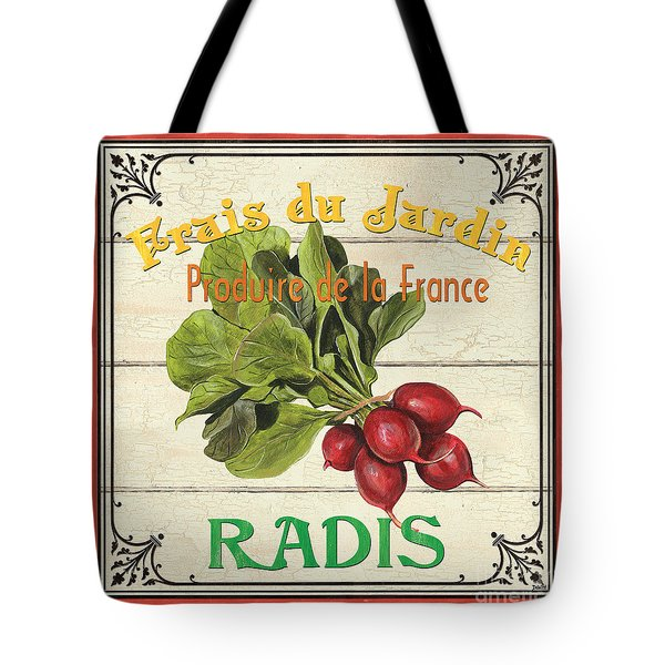French Vegetable Sign 1 Tote Bag