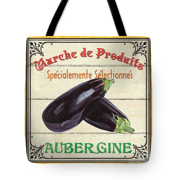 French Vegetable Sign 3 Tote Bag by Debbie DeWitt
