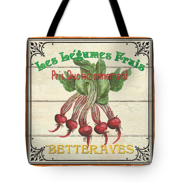 French Vegetable Sign 4 Tote Bag by Debbie DeWitt