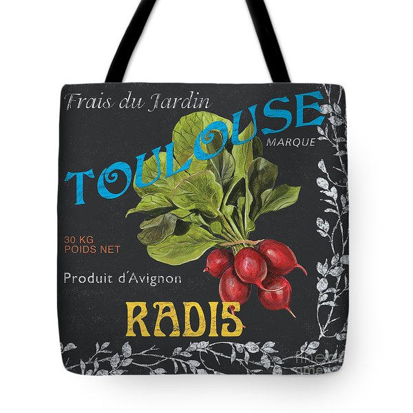 French Veggie Labels 3 Tote Bag by Debbie DeWitt