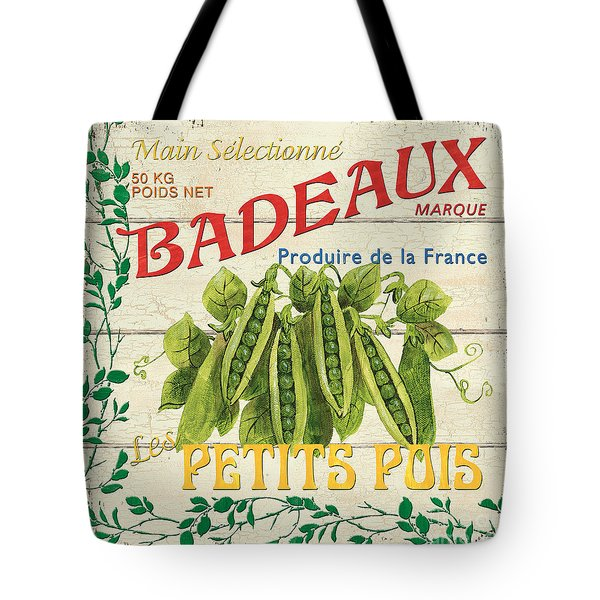 French Veggie Sign 1 Tote Bag by Debbie DeWitt
