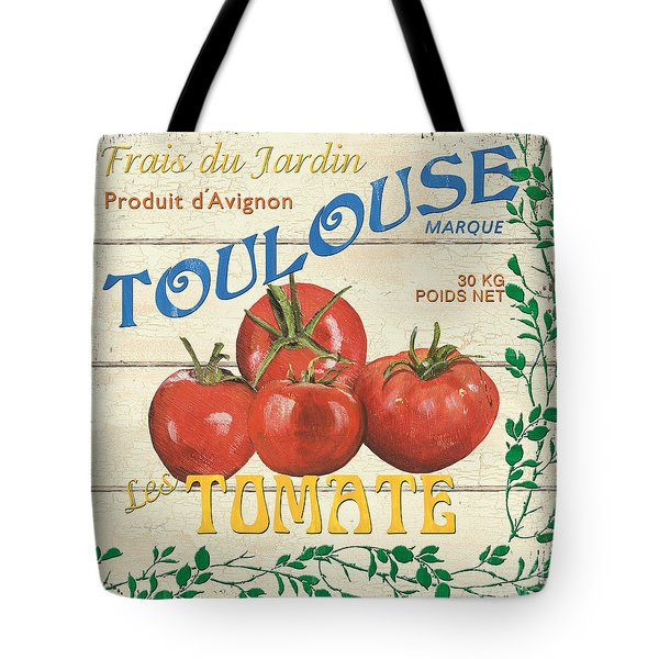 French Veggie Sign 3 Tote Bag by Debbie DeWitt