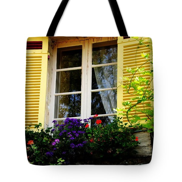 Tote Bag featuring the photograph French Window Dressing by Jacqueline M Lewis
