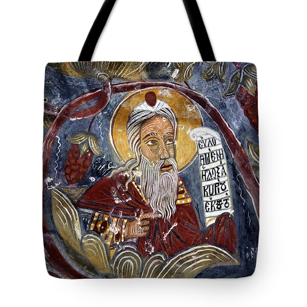 Fresco At The Sumela Monastery Turkey Tote Bag by Robert Preston