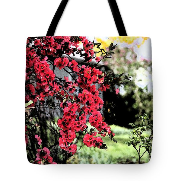 Quince Flowers Tote Bag
