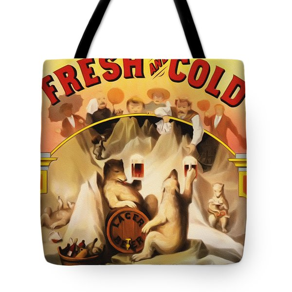 Fresh And Cold Direct From The North Pole Tote Bag by Bill Cannon