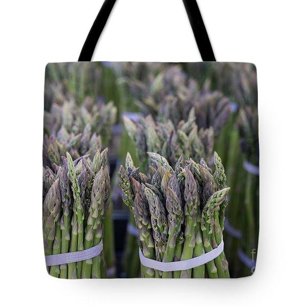 Fresh Asparagus Tote Bag by Mike  Dawson