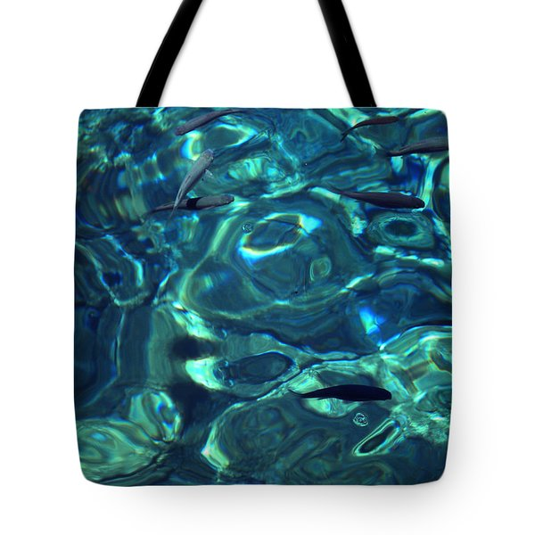Fresh Clean Santorini Ocean  Water Tote Bag