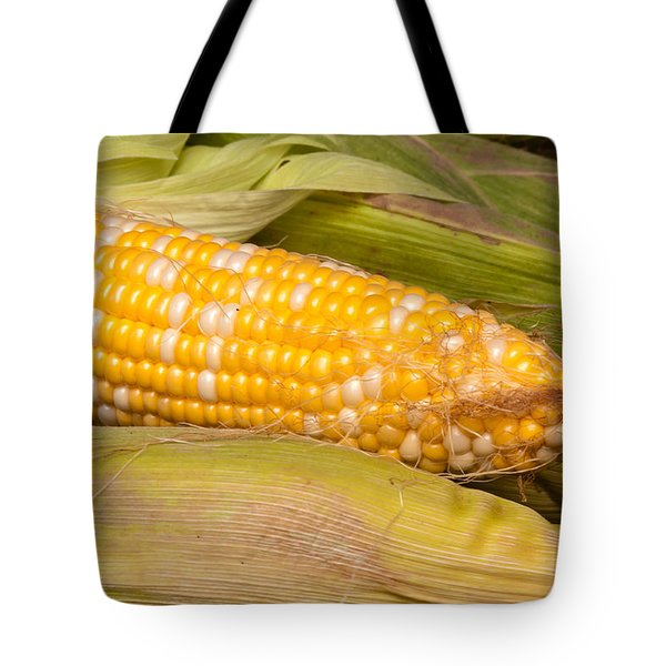 Fresh Corn At Farmers Market Tote Bag by Teri Virbickis