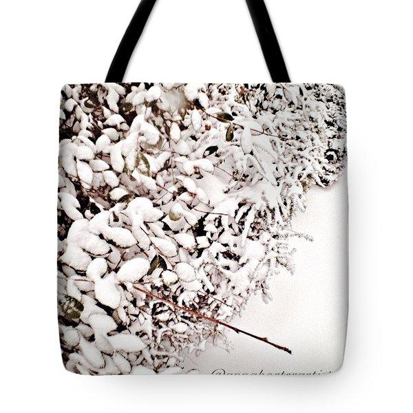 Fresh Fallen #snow #snowday Tote Bag