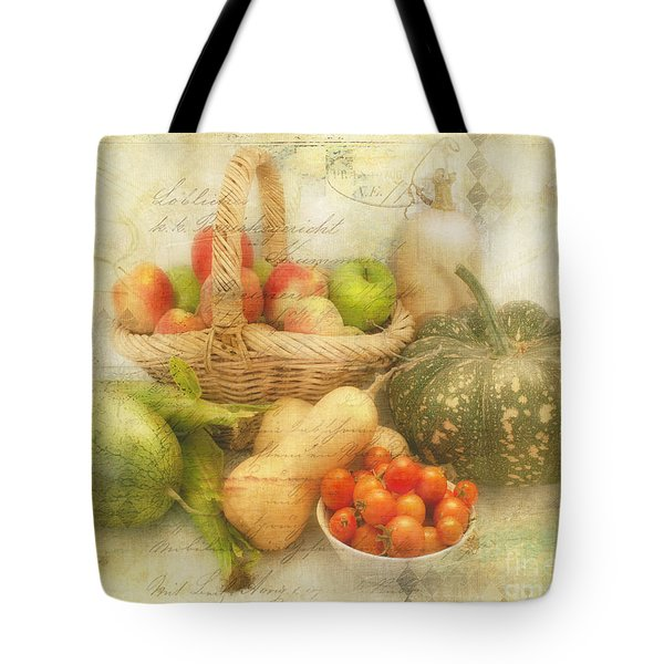 Fresh From The Garden Tote Bag by Linda Lees