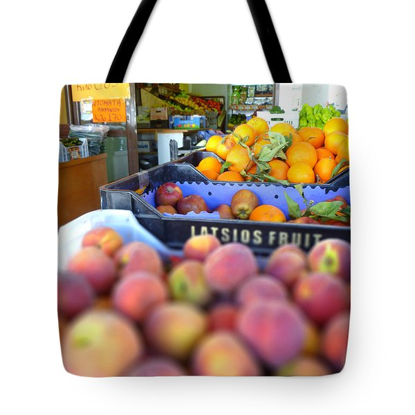 Tote Bag featuring the photograph Fresh Fruit by Vicki Spindler