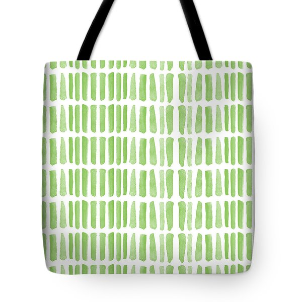 Fresh Grass- Abstract Pattern Painting Tote Bag