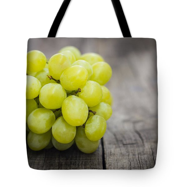 Fresh Green Grapes Tote Bag by Aged Pixel