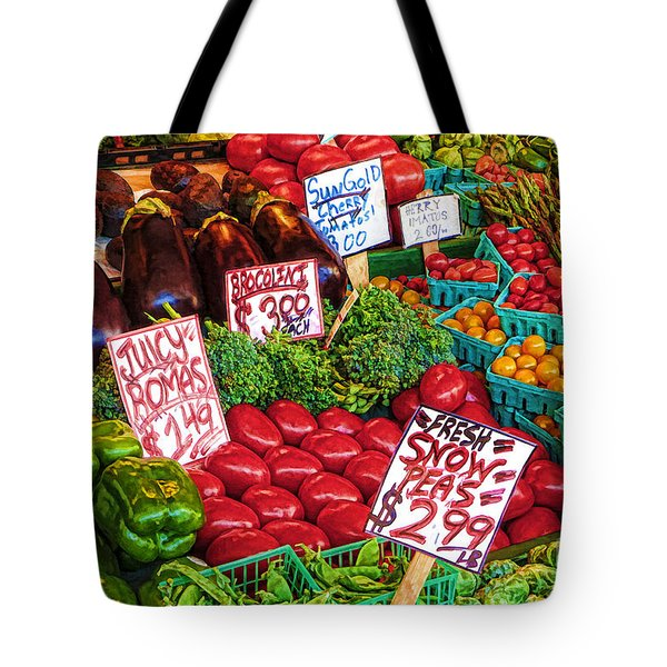 Fresh Market Vegetables Tote Bag