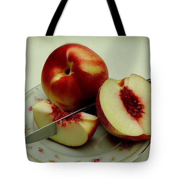 Fresh Nectarines Tote Bag by James C Thomas