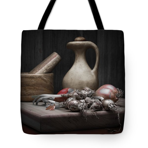Fresh Onions With Pitcher Tote Bag by Tom Mc Nemar