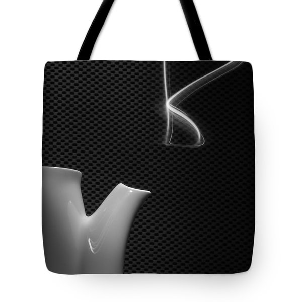 Tote Bag featuring the photograph Fresh Pot Of Coffee- Light Painting by Steven Milner