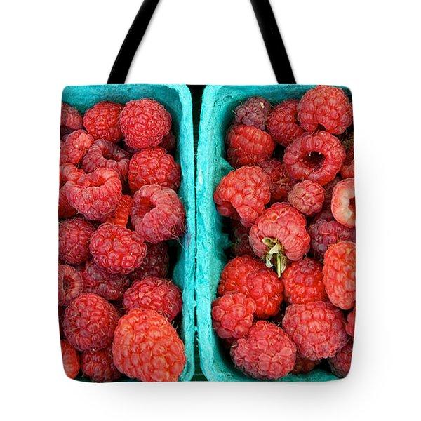 Fresh Raspberries Tote Bag