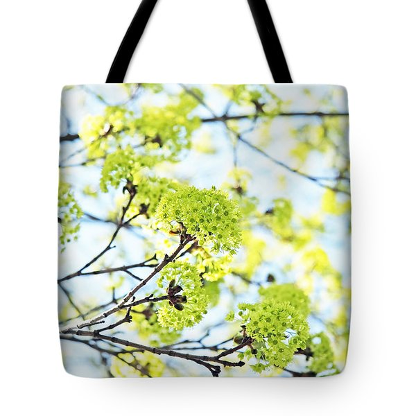 Tote Bag featuring the photograph Fresh Spring Green Buds by Brooke T Ryan