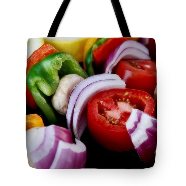 Fresh Veggie Kabobs On The Grill Tote Bag
