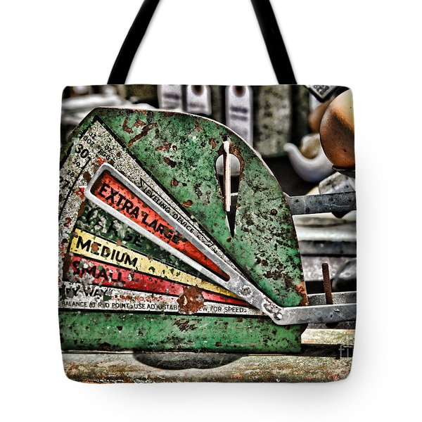 Freshly Weighed Egg By Diana Sainz Tote Bag
