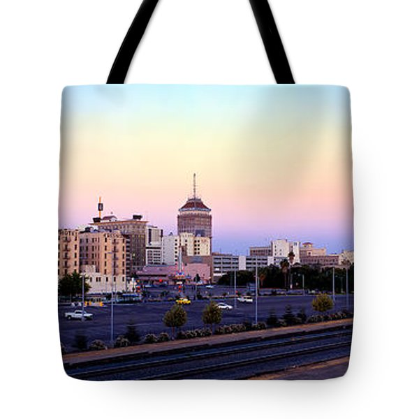 Fresno Skyline Into The Evening Tote Bag
