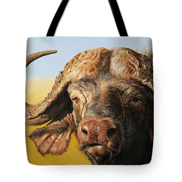 African Buffalo Tote Bag by Mario Pichler