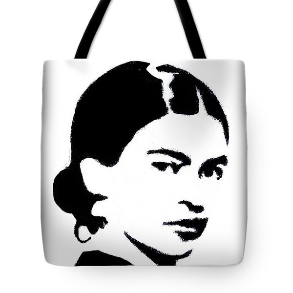 Frida Black And White Tote Bag