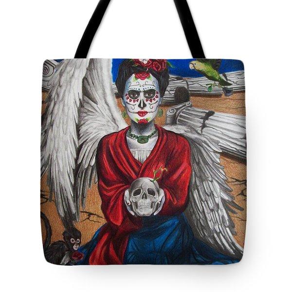 Frida Kahlo Tote Bag by Amber Stanford