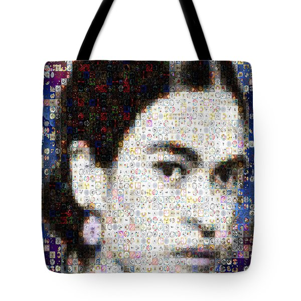 Frida Kahlo Mosaic Tote Bag by Paula Ayers