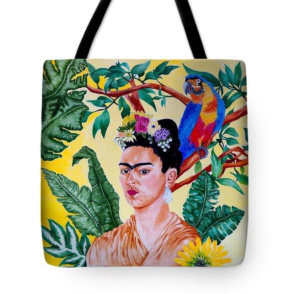 Frida Kahlo Tote Bag by Thomas Gronowski