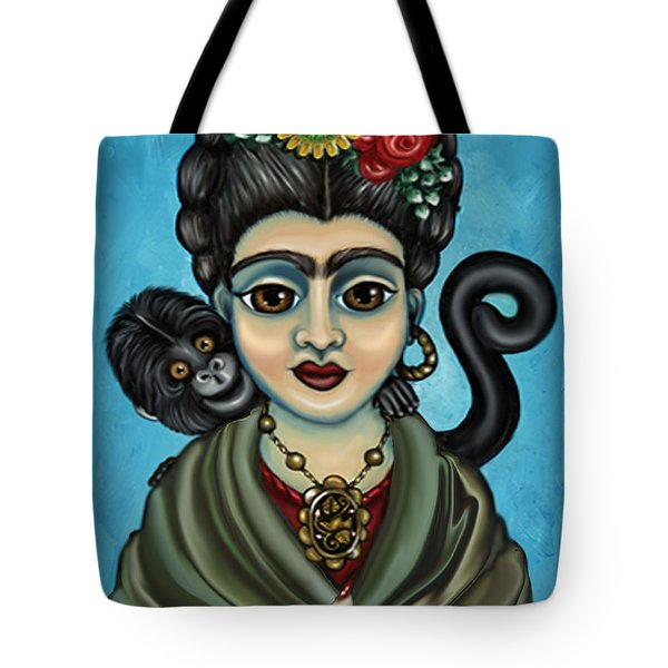 Frida's Monkey Tote Bag