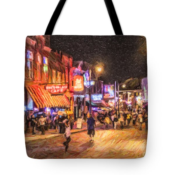 Friday Night On Beale Tote Bag