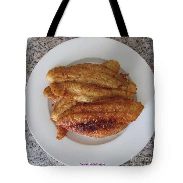 Tote Bag featuring the photograph You Must Hate Fish - That's Why You Eat It by Mudiama Kammoh