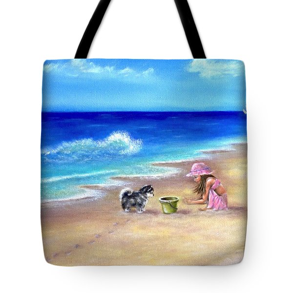Friendly Encounter Tote Bag