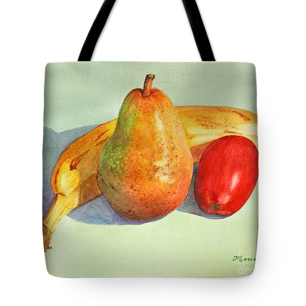 Tote Bag featuring the painting Friendly Trio by Mariarosa Rockefeller