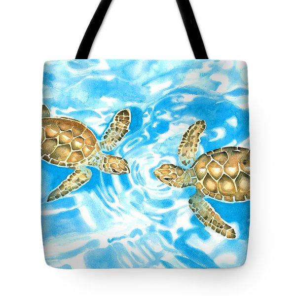 Friends Baby Sea Turtles Tote Bag