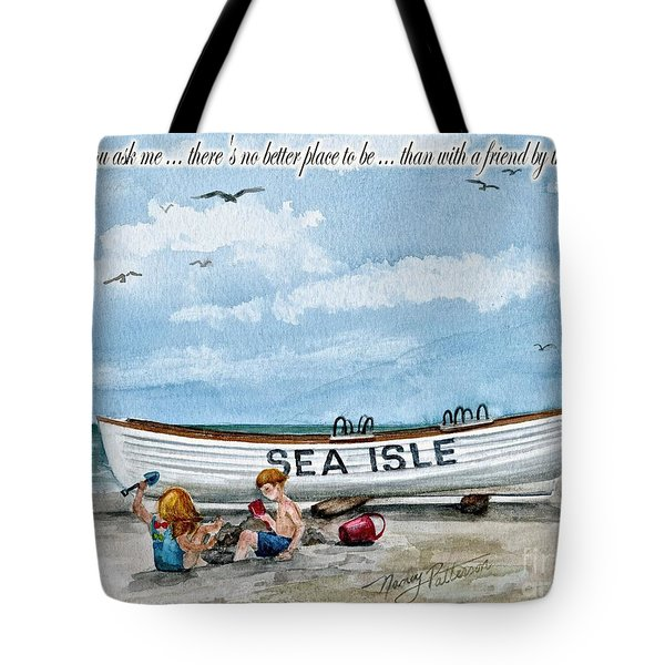 Friends By The Sea  Tote Bag by Nancy Patterson