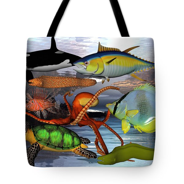 Friends Of The Sea Tote Bag by Betsy Knapp